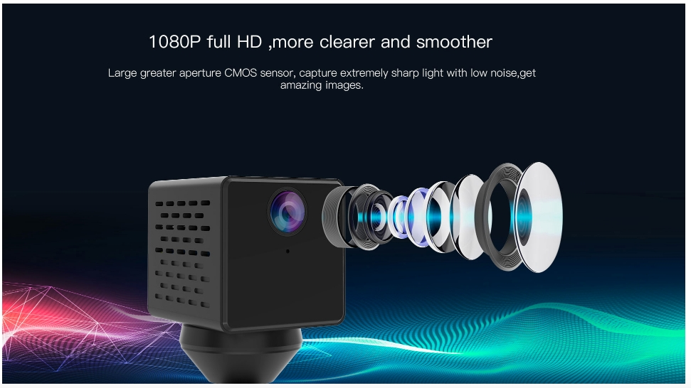 Camera Mini IP Vstarcam CB71 WiFi 2.0 1080P Giám Sát Hành Trình Ô Tô, Xem Từ Xa Bằng Điện Thoại, PC, iPad (3.65x4.0x3.65 Cm) ,  Góc rộng 150 độ - Hàng chính hãng