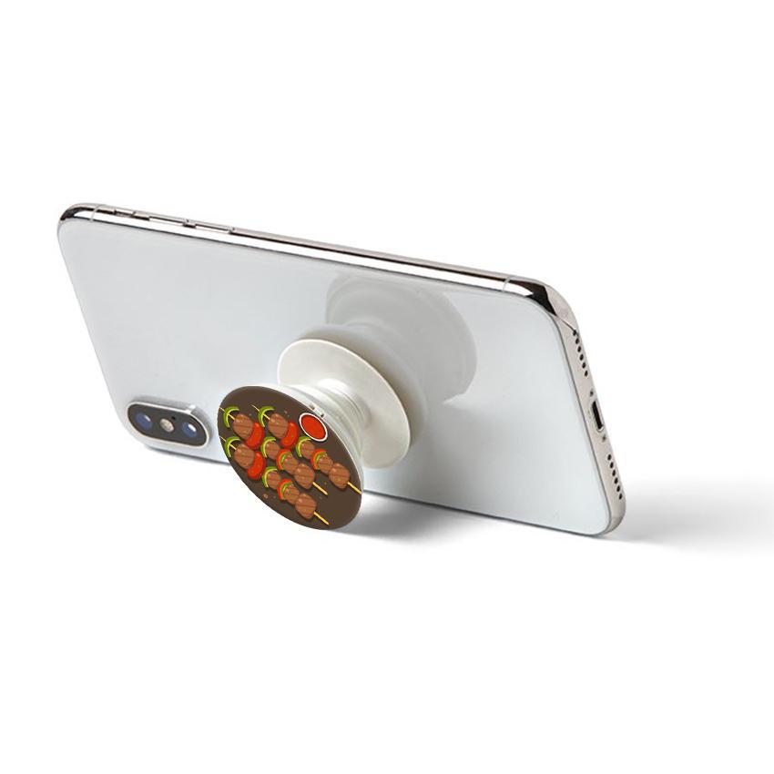 Gía đỡ điện thoại đa năng, tiện lợi - Popsocket - In hình BBQ - Hàng Chính Hãng