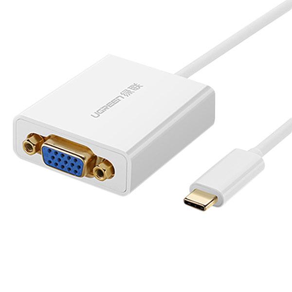 Cáp Chuyển Đổi Ugreen USB Type-C Sang VGA 40274 (20cm) - Hàng Chính Hãng