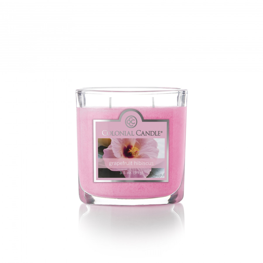 Nến ly oval Grapefruit Hibiscus Colonial Candle (hoa Hibiscus)
