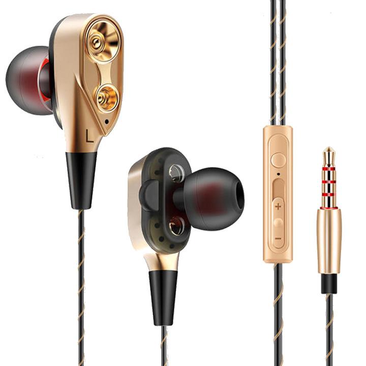 Tai nghe nhét tai CK8 Driver kép Hi-res Audio - Hàng nhập khẩu