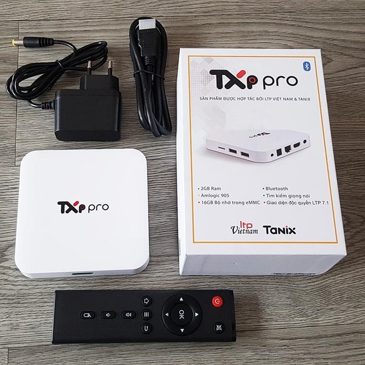 Android Tivi Box TXP Pro Truyền hình vtvcap On Bản Quyền HĐH Android 9 Ram 2G Rom 16G Chip Amlogic 905 - Hàng Chính Hãng