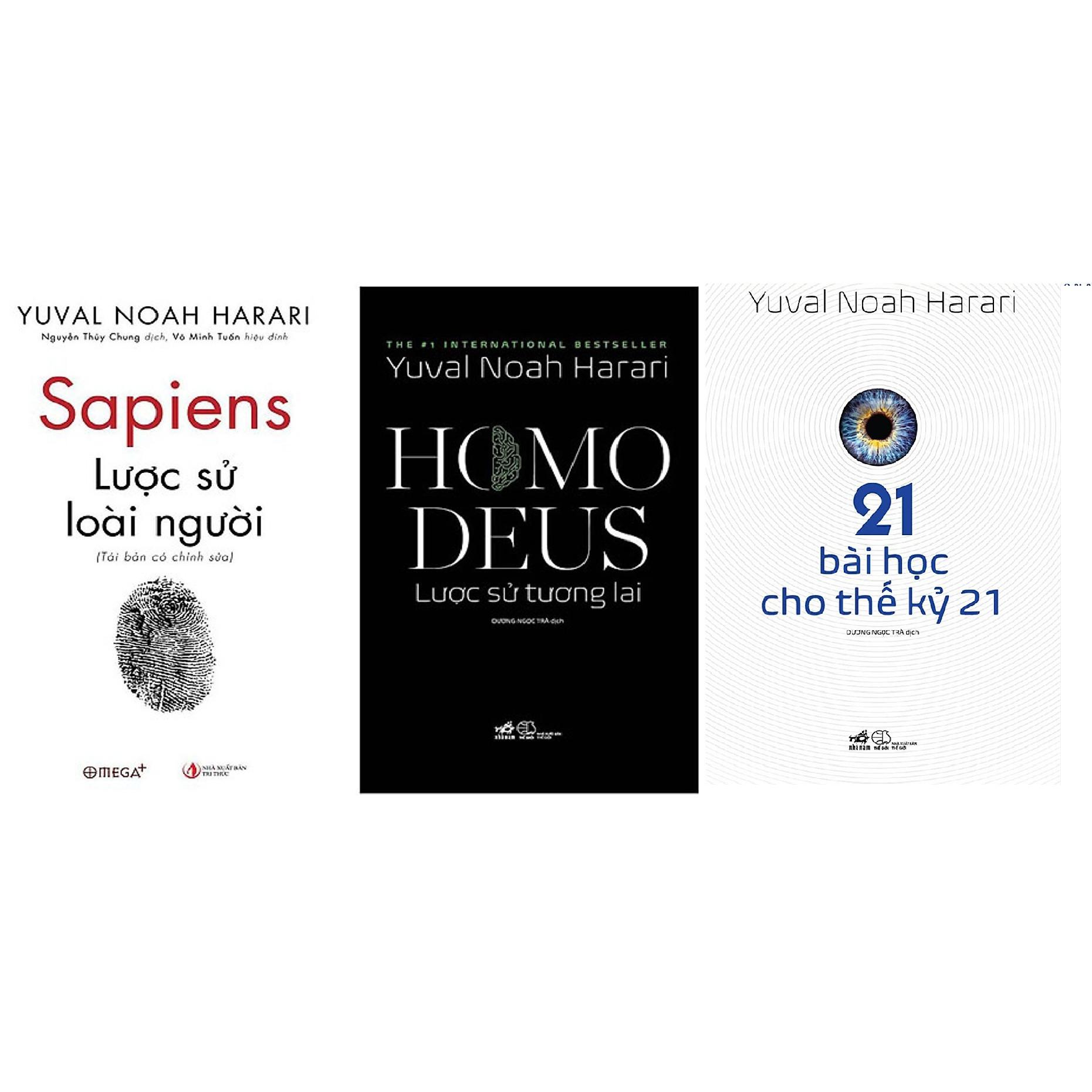 Combo Sapiens: Lược Sử Loài Người và Homo Deus: Lược Sử Tương Lai + 21 Bài Học Cho Thế Kỷ 21 (Tác giả: Yuval Noah Harari)