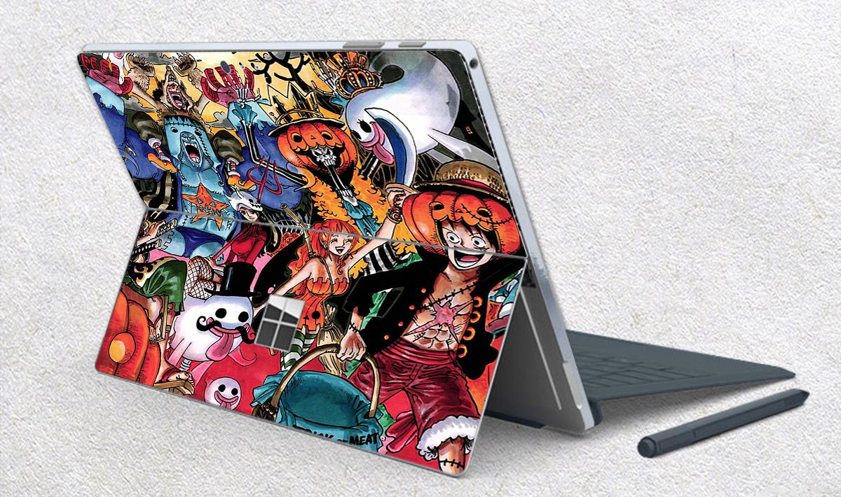 Skin dán hình One Piece x06 cho Surface Go, Pro 2, Pro 3, Pro 4, Pro 5, Pro 6, Pro 7, Pro X