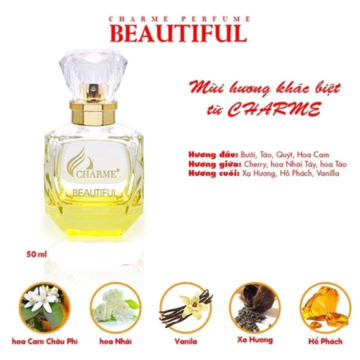Nước Hoa Nữ Charme Beautiful 50ml