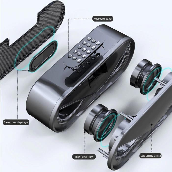 Loa Gaming bluetooth Mắt Cú Manovo M6 Kèm Led , Âm thanh cực hay, bass ấm , hỗ trợ thẻ nhớ, USB, AUX-Hàng nhập khẩu