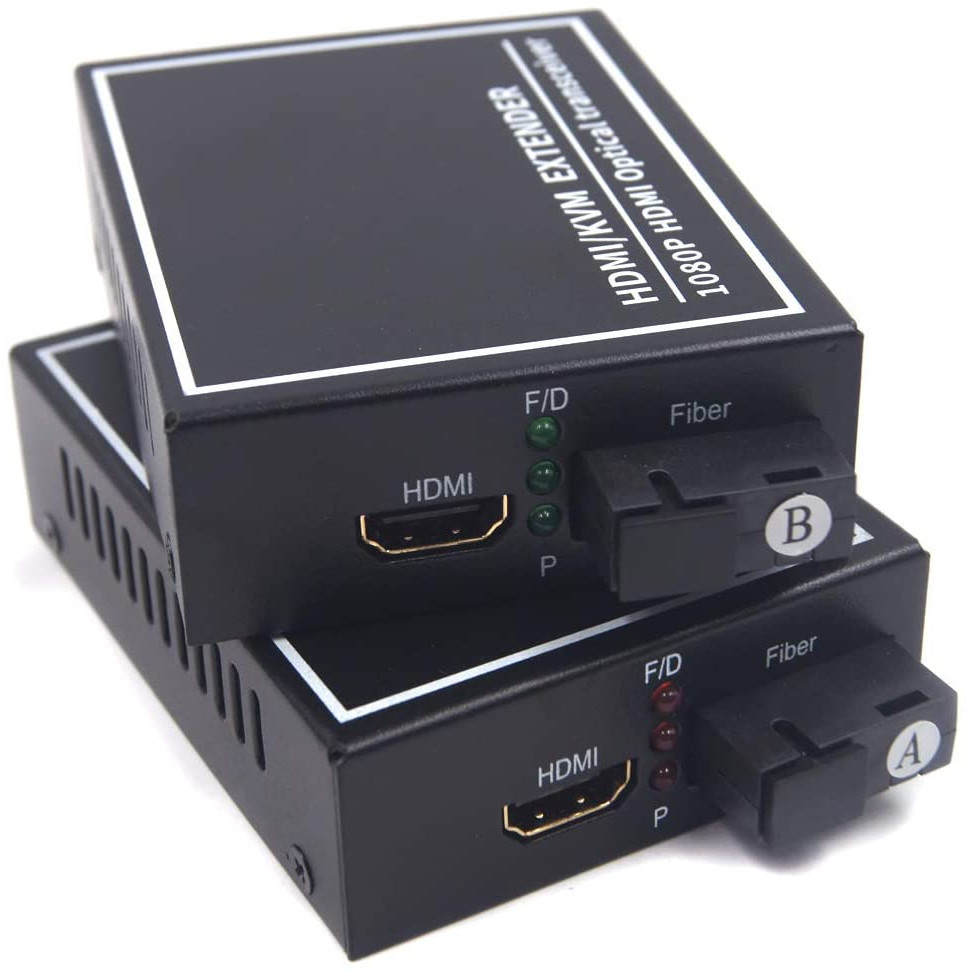 ROGTZ Bộ Converter Quang HDMI KVM Extender 1080P Kéo Dài 20KM Có Cổng USB - Hàng Chính Hãng