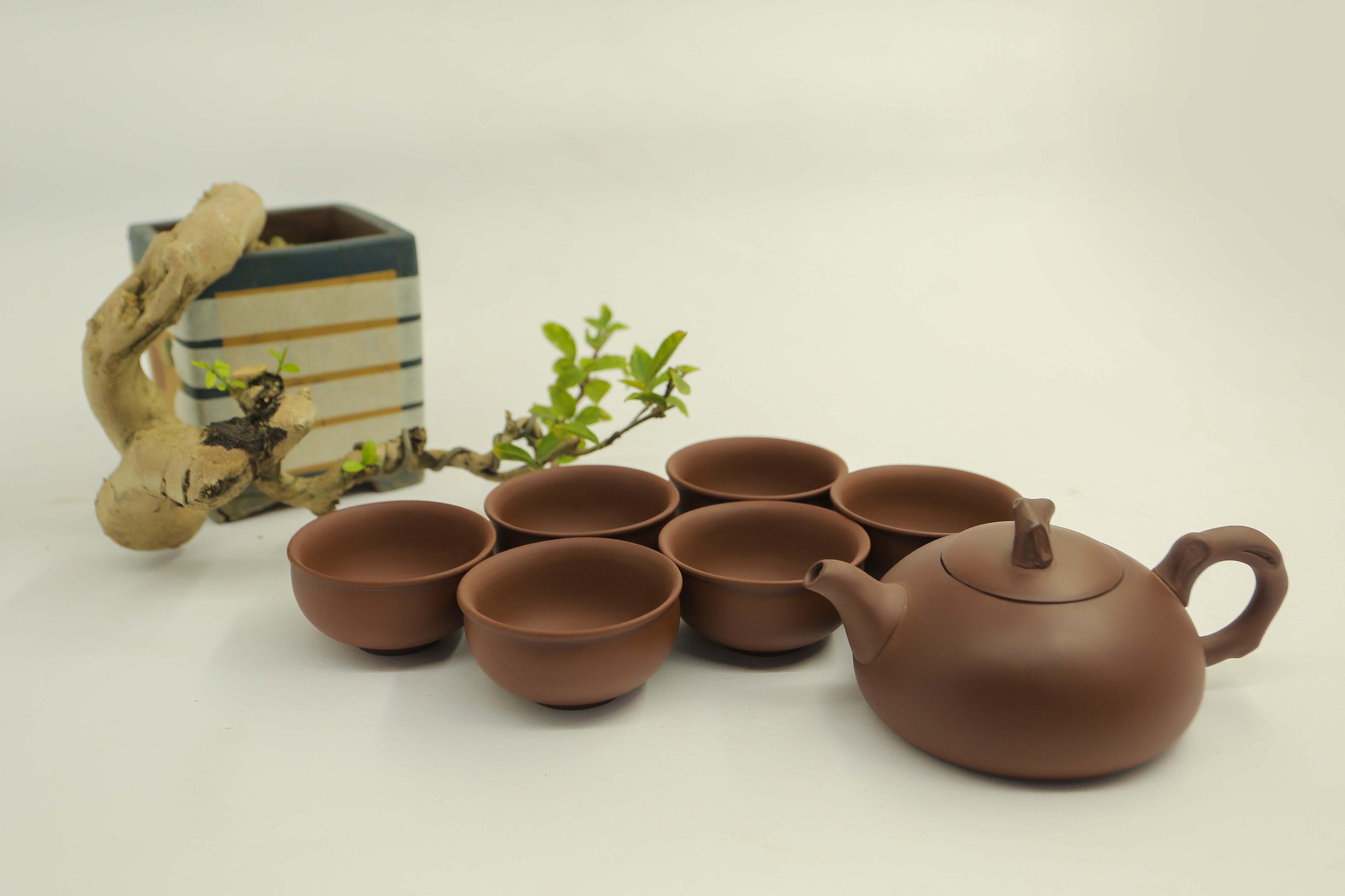 Bộ ấm gốm sứ - Bộ trà đất nung - Bộ ấm trà An Thổ Túc - Bộ ấm trà Tùng Lâm