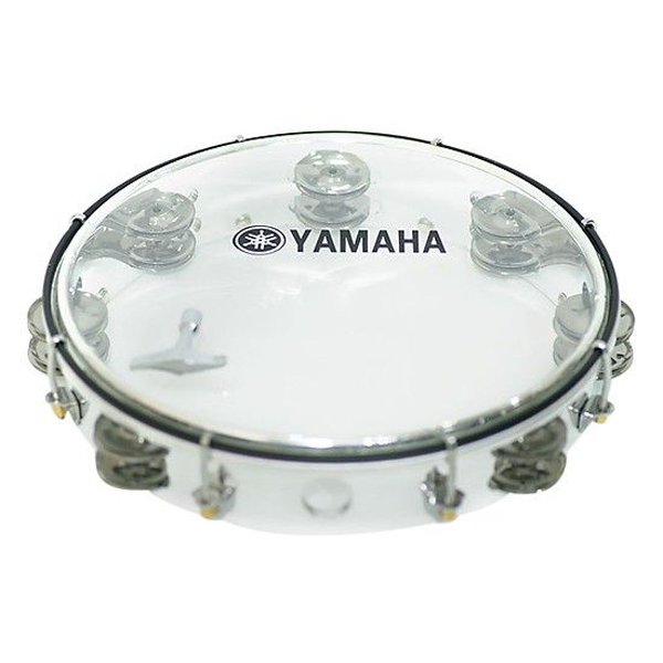 Combo trống lắc tay Tambourine Yamaha trắng trong + bao 3 lớp(SOL.G)