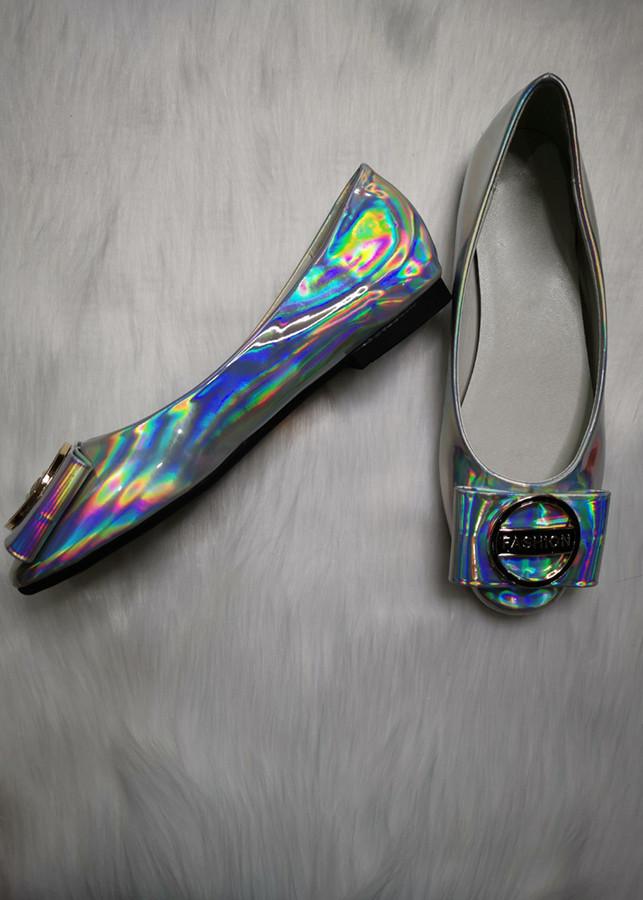 Giày Búp Bê Cao Cấp Dễ Thương - Màu Bạc - Size 38