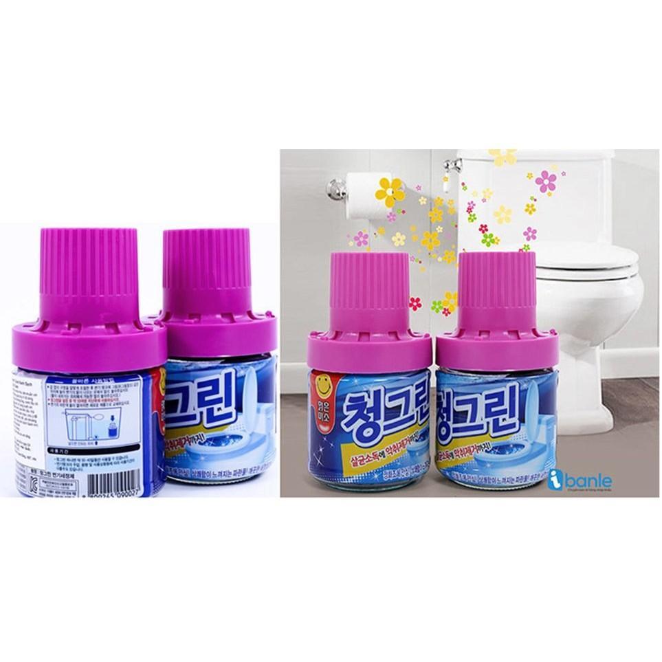 Bộ 4 chai tẩy vệ sinh bồn cầu hương ngàn hoa HQ TI158