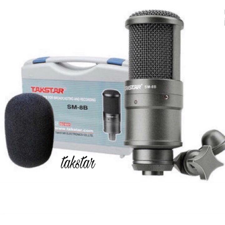 Micro Thu Âm Takstar SM-8B - karaoke, livetream, thu âm chuyên nghiệp - Hàng nhập khẩu