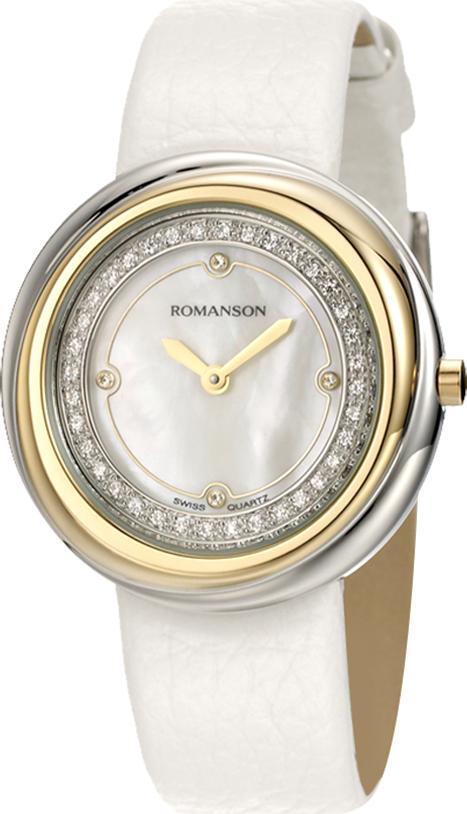 Đồng Hồ Nữ Dây Da Romanson RL1251QLCWH (32 mm) - Trắng
