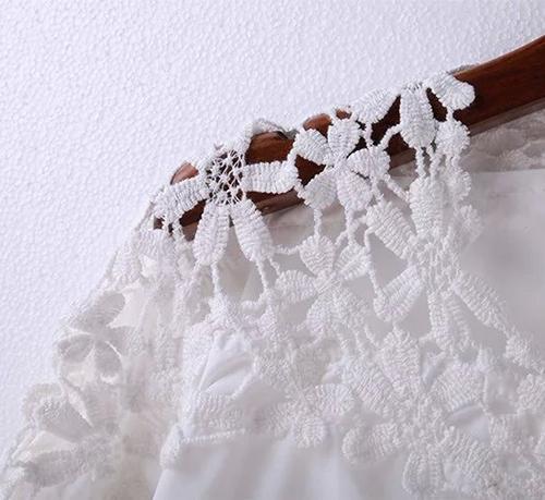 Áo nữ phối ren hoa tay thắt nơ Haint Boutique 107