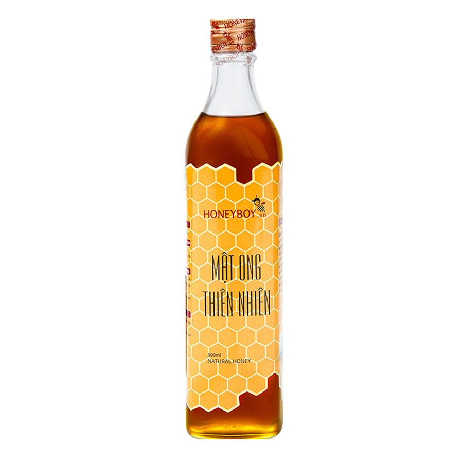 Combo Mật Ong Thiên Nhiên Honeyboy (500ml) + Mật Ong Thô Honeyboy (1L)
