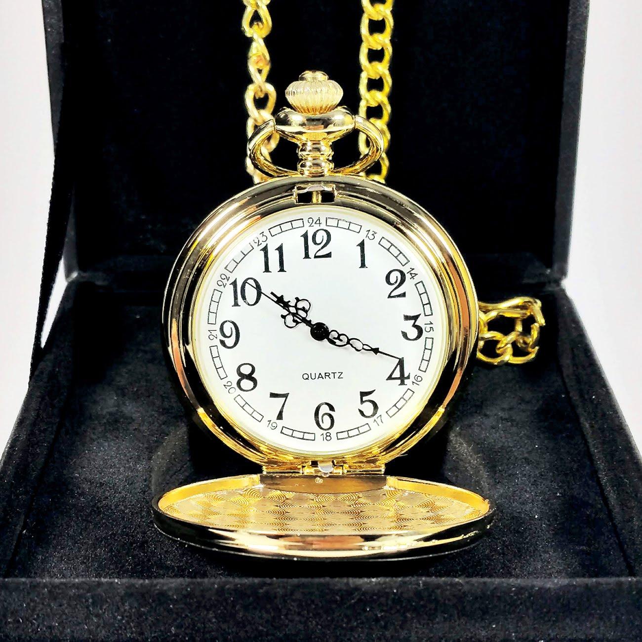 Đồng hồ quả quýt INOX vàng trơn : Thiết kế hoài cổ - Lịch Sự - Quý Phái