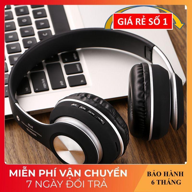 Tai Nghe Chụp Tai ️️ Tai Nghe Không Dây Âm Thanh Sống Động - Tai Nghe Bluetooth ST-33 Hỗ Trợ Thẻ Nhớ, Nghe FM