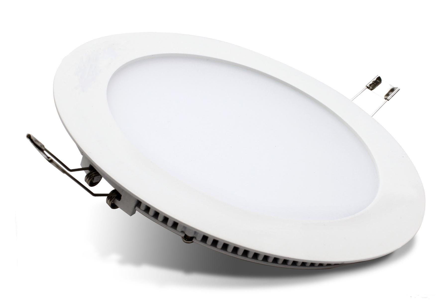 Đèn led âm trần Panel tròn anh sáng trắng, vàng tiện lợi cao cấp