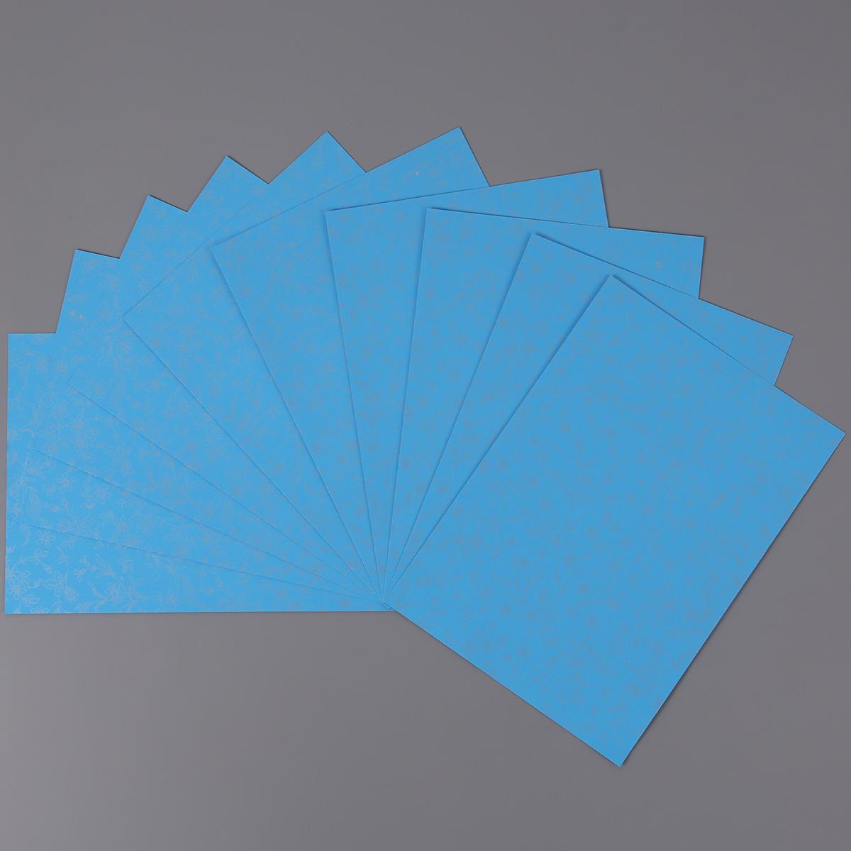 Xấp 10 Tờ Bìa Giấy Thơm A4 180gsm Làm Handmade Có Hoa Văn