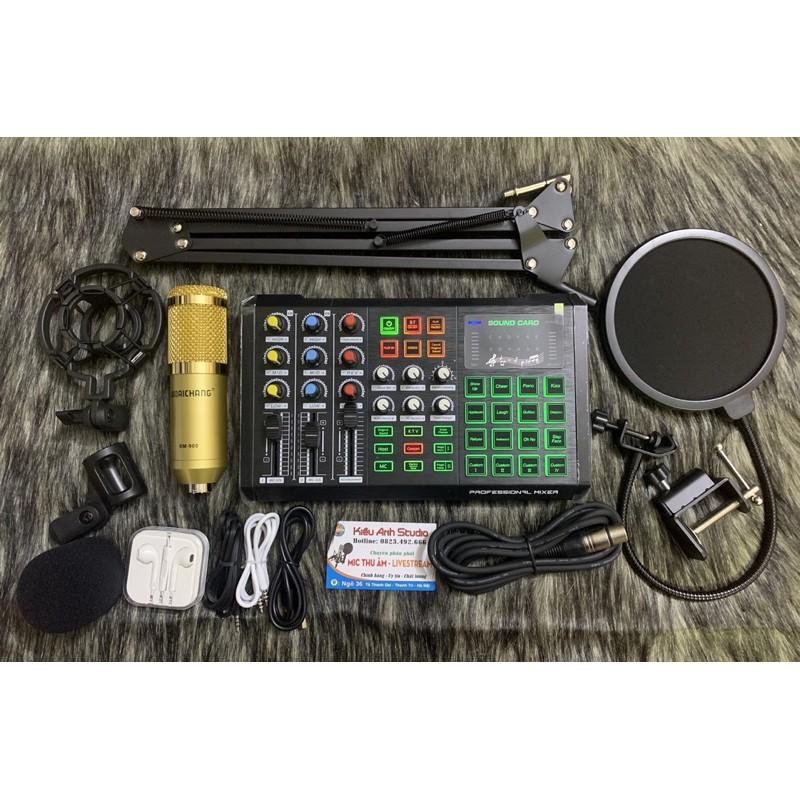 Bộ combo livestream S8 Bluetooth và Mic Bm 900 âm thanh cực hay