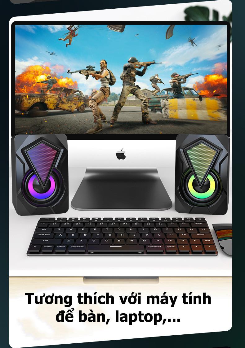 Bộ Loa Máy Tính Mini X2 Để Bàn Cao Cấp Âm Thanh Siêu Trầm Hỗ Trợ USB 2.0