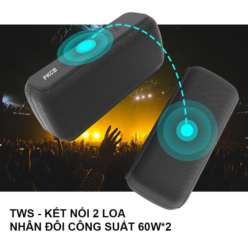 Loa Bluetooth Không Dây Siêu Trầm 60W Cực Khủng - Hàng Chính Hãng PKCB92
