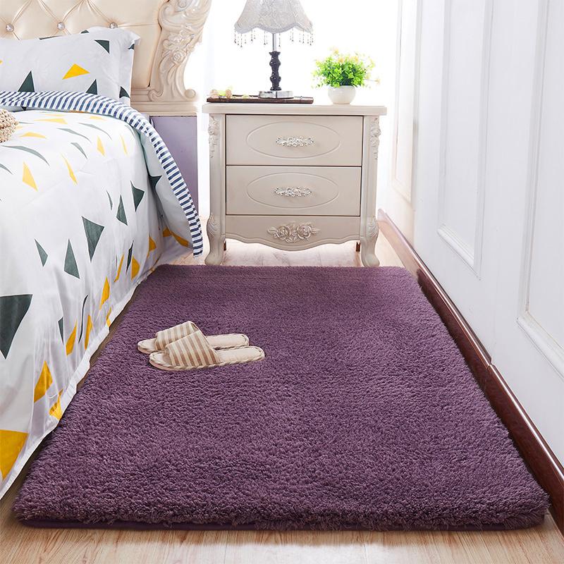 Thảm trải sàn phòng ngủ lông cừu màu Xám Tím 160x200cm