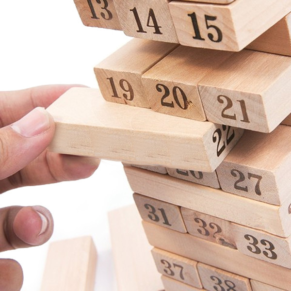 Đồ chơi thông minh cho bé, đồ chơi bằng gỗ tự nhiên, đồ chơi rút gỗ Wiss Toy cho bé trai và bé gái. + Tặng Kèm Móc Khóa4T.