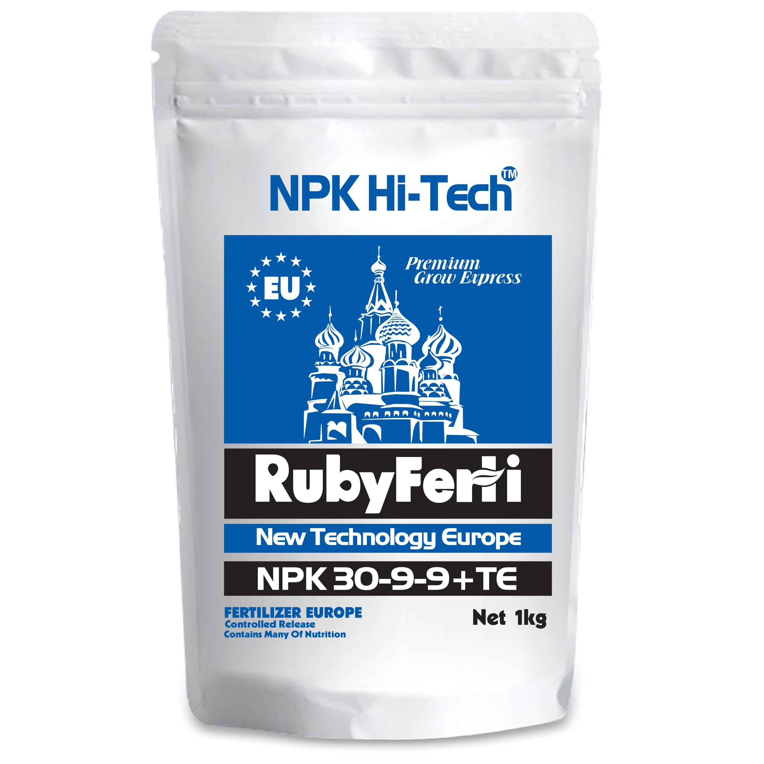 Phân bón NPK Hi-Tech: RubyFerti NPK 30-9-9+TE