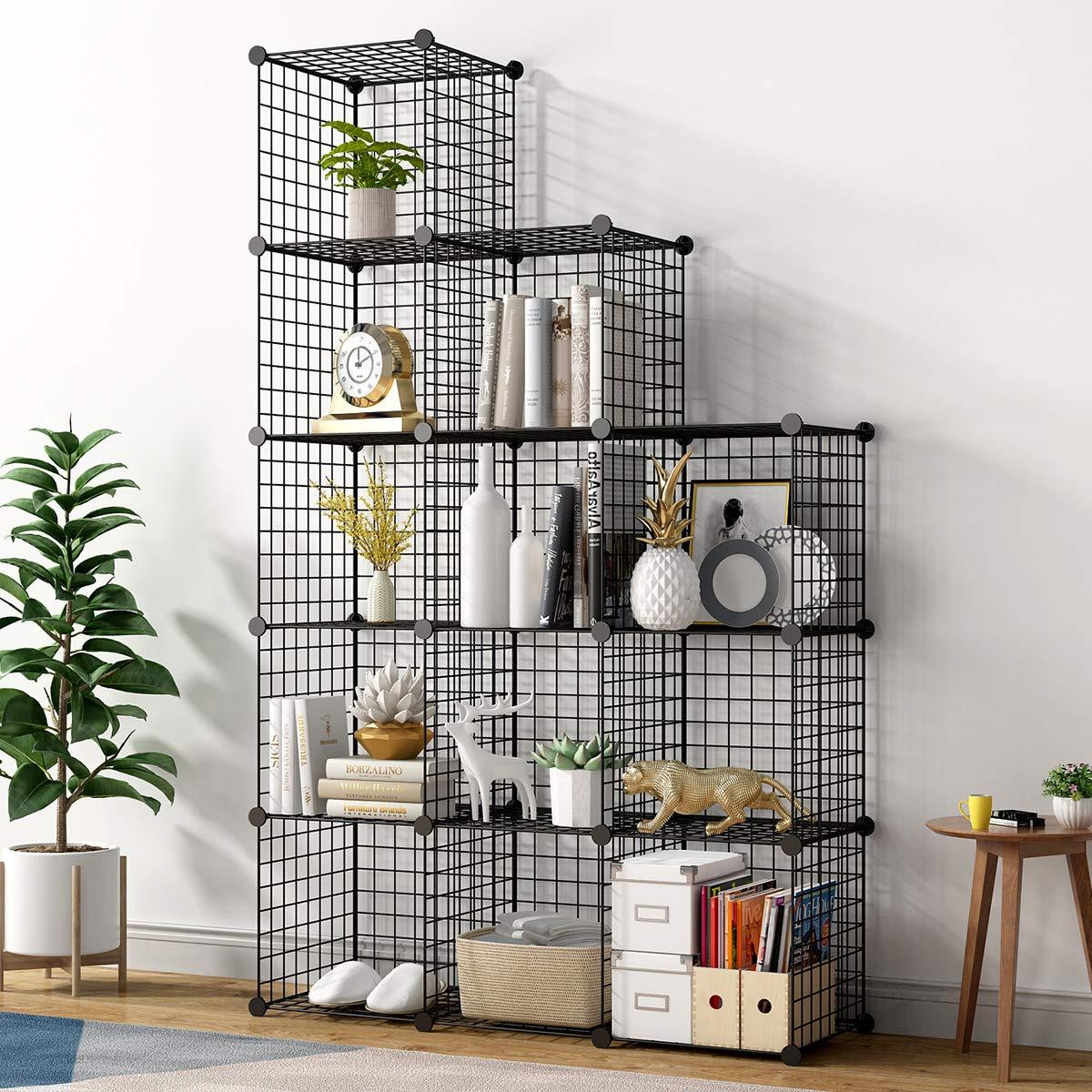 Tủ Kệ 12 ô lắp ghép hình zíc zắc, kệ sách, kệ trang trí, nội thất thông minh cho gia đình bạn