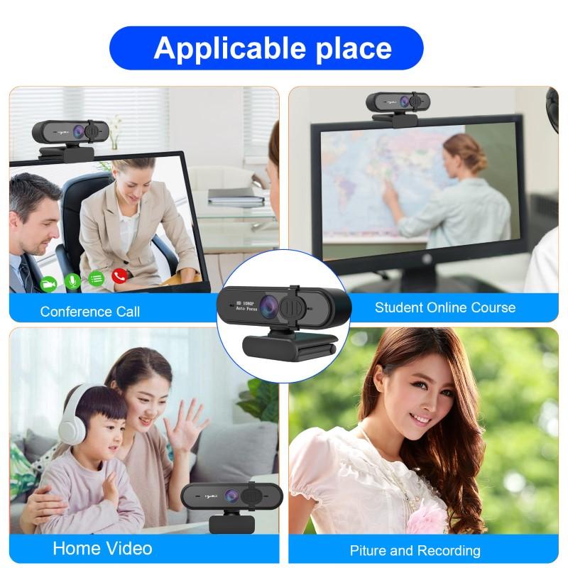 Webcam HXSJ S6 Auto Focus Góc  Rộng 1080P - hàng nhập khẩu