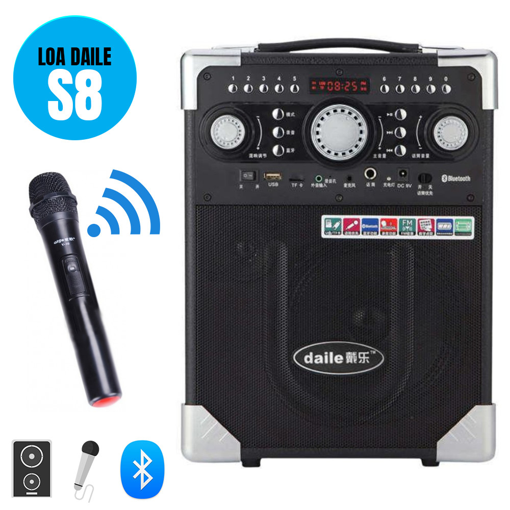 Loa kéo Bluetooth S8 kèm mic