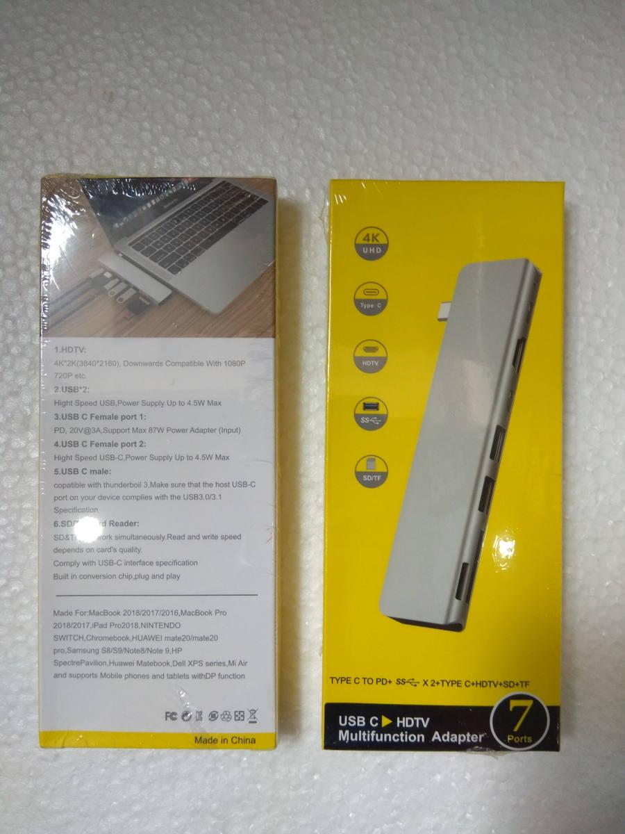 Cổng chuyển USB-C 7in1 HDMI 4K 60Hz/ USB-C Hub/ TF/ SD/ USB 3.0 cho Macbook - 7in1-3 4K 60Hz