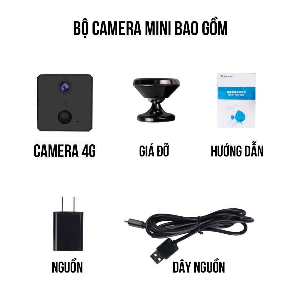 Camera Mini IP Vstarcam CB72 1080P 2.0 Sim 4G LTE Giám Sát Hành Trình Ô Tô, Xem Trực Tiếp Từ Xa Bằng Điện Thoại, PC - Hàng Chính Hãng