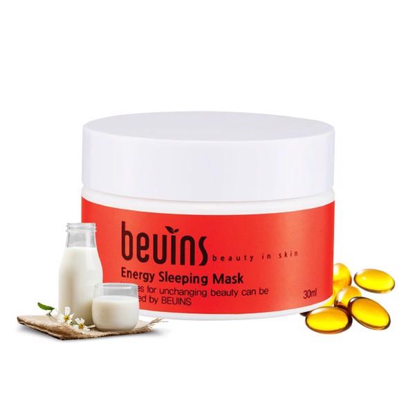 Combo 2 Mặt Nạ Beuins: Cung Cấp Năng Lượng Energy Sleeping Mask & Se Khít Nang Lông Pore Clay Mask