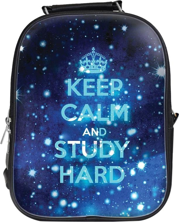 Balo Unisex In Hình Keep Calm And Study Hard - BLTE004 Nhỏ