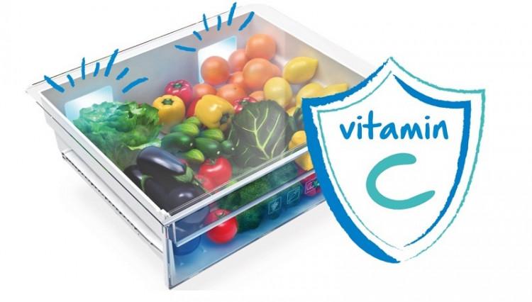 Công nghệ Active Blue Light bổ xung thêm vitamin cho rau củ - Tủ lạnh Beko inverter 360 lít RDNT360E50VZWB