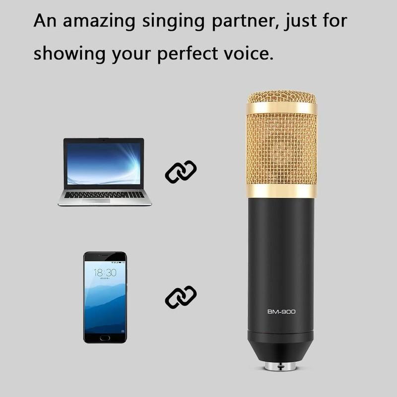 Micro karaoke thu âm chuyên nghiệp BM900
