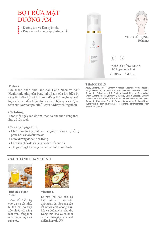 Sữa Rửa Mặt Tạo Bọt Dưỡng Ẩm Và Làm Sạch - EVENSWISS MOISTURIZING CLEANSING FOAM từ Thụy Sĩ 20ml