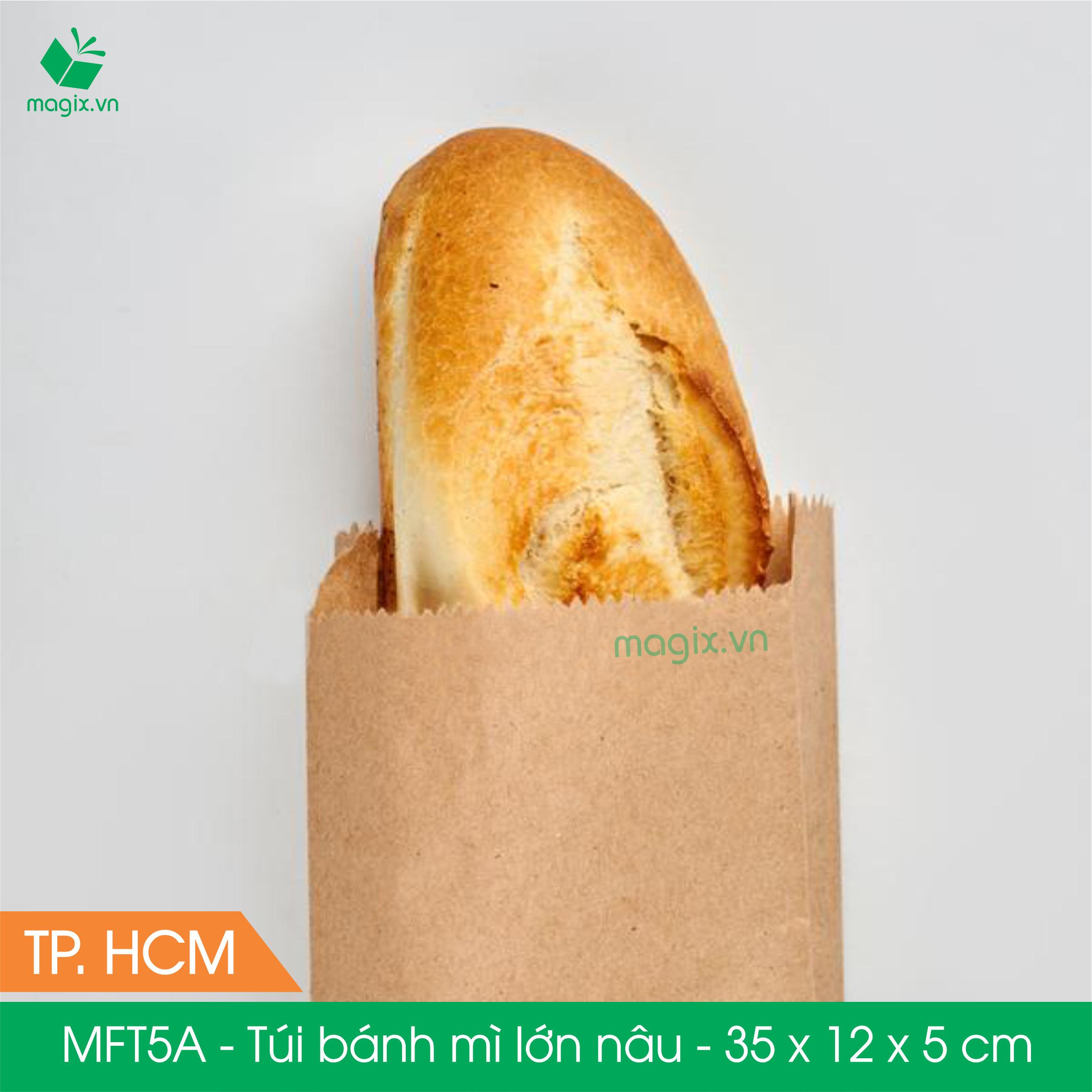 MFT5A- 35x12x5 cm - 100 Túi đựng thực phẩm - Túi đựng đồ ăn