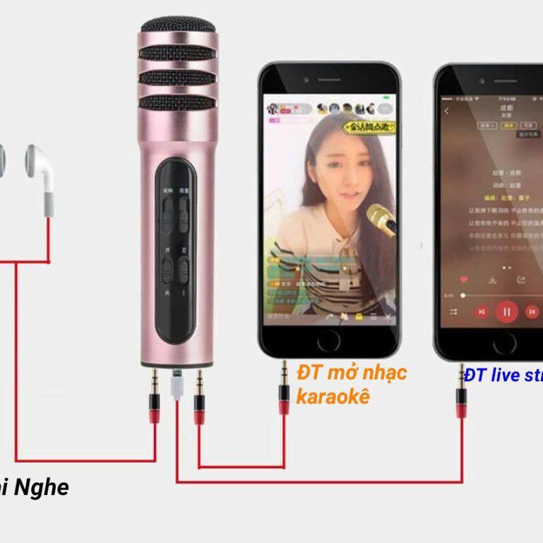 Micro C6 live stream hát karaoke trên điện thoại