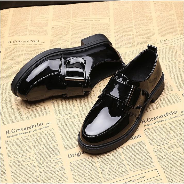 Giày Oxford Quai Dán Ngang Vintage Sang Chảnh Da Mềm - MPS166