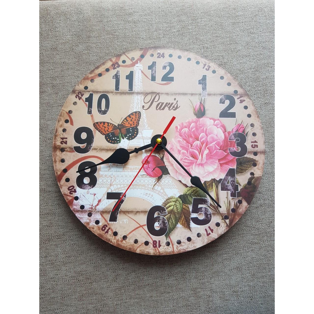 Đồng hồ treo tường Vintage Phong cách Châu Âu size 23cm DH62