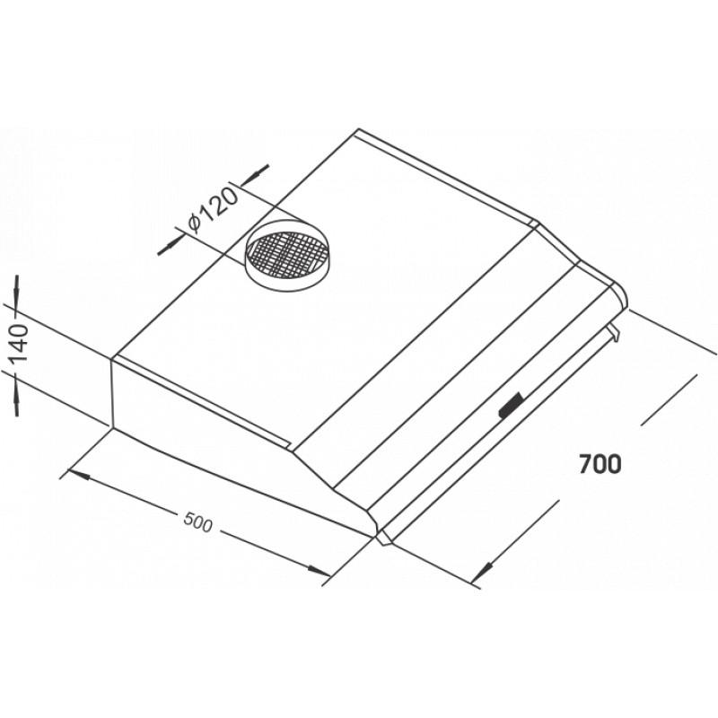 Máy hút khói cổ điển Fandi FD - 705P - Hàng Chính Hãng