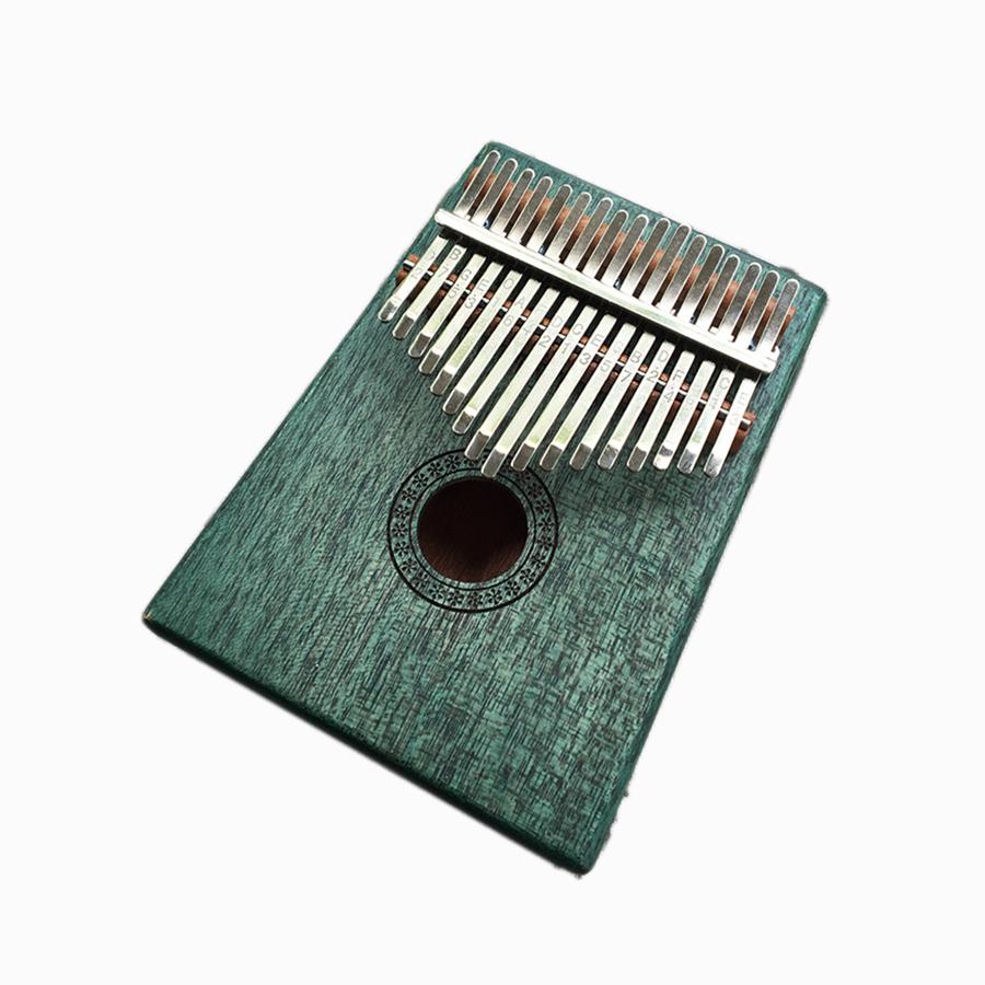 Đàn Kalimba 17 phím Gỗ Vintage Xanh  Lá Tặng Kèm Khóa Học Miễn Phí