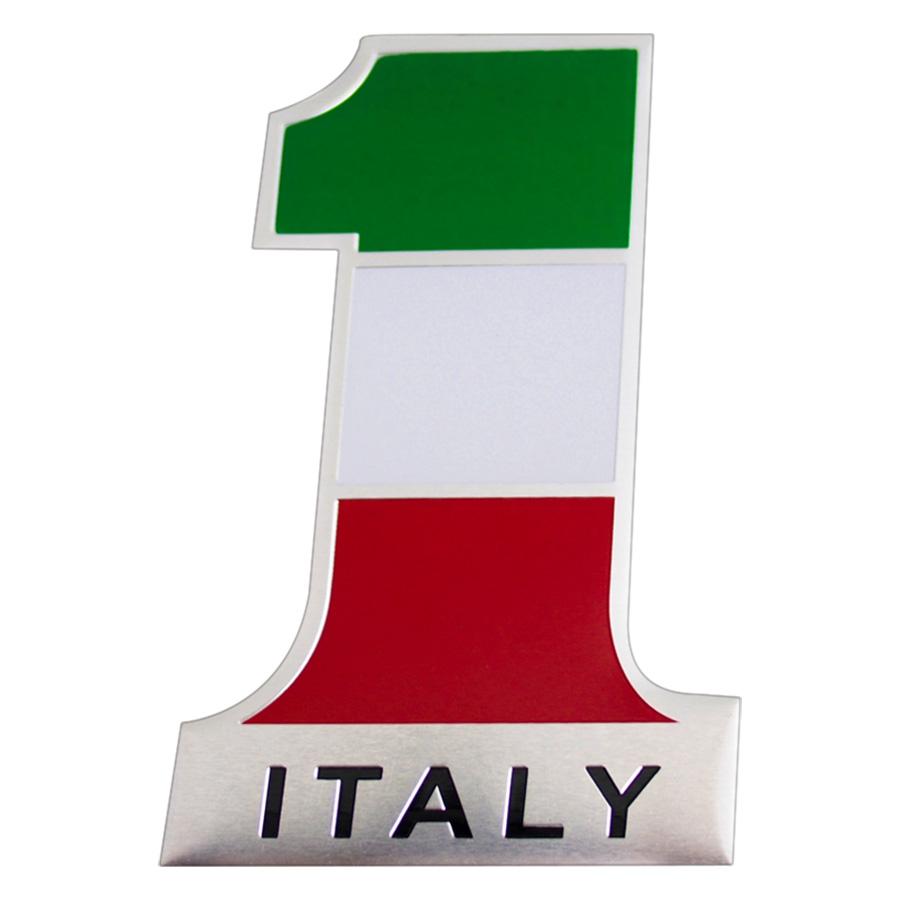 Sticker Hình Dán Metal Số 1 Cờ Ý Italia