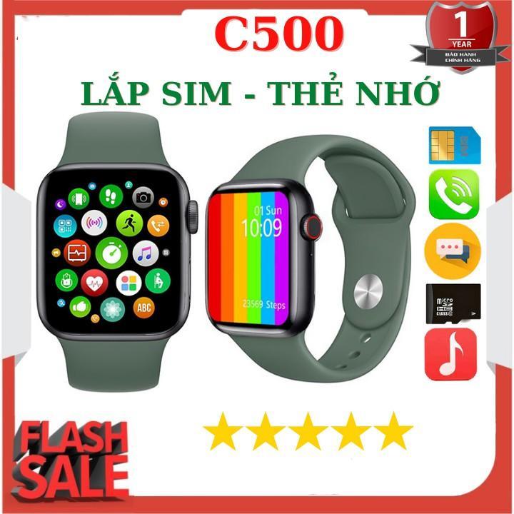 Đồng Hồ Thông Minh C500 - Thiết Kế Mới Lắp Sim Lắp Thẻ Nhớ Nghe Gọi Theo Dõi Sức Khỏe