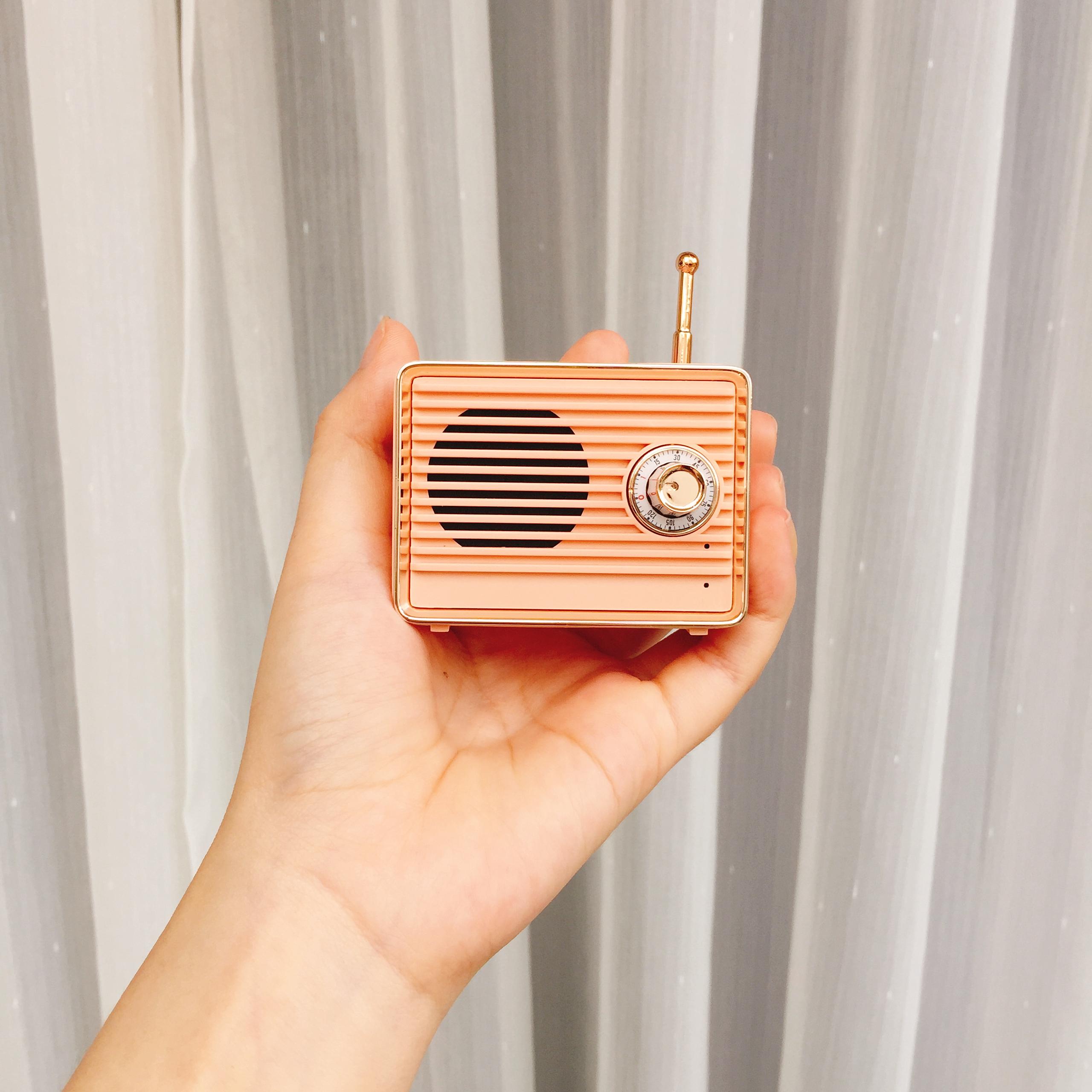 Loa Bluetooth Speaker Giả Đài FM Vintage Di Động Thông Minh