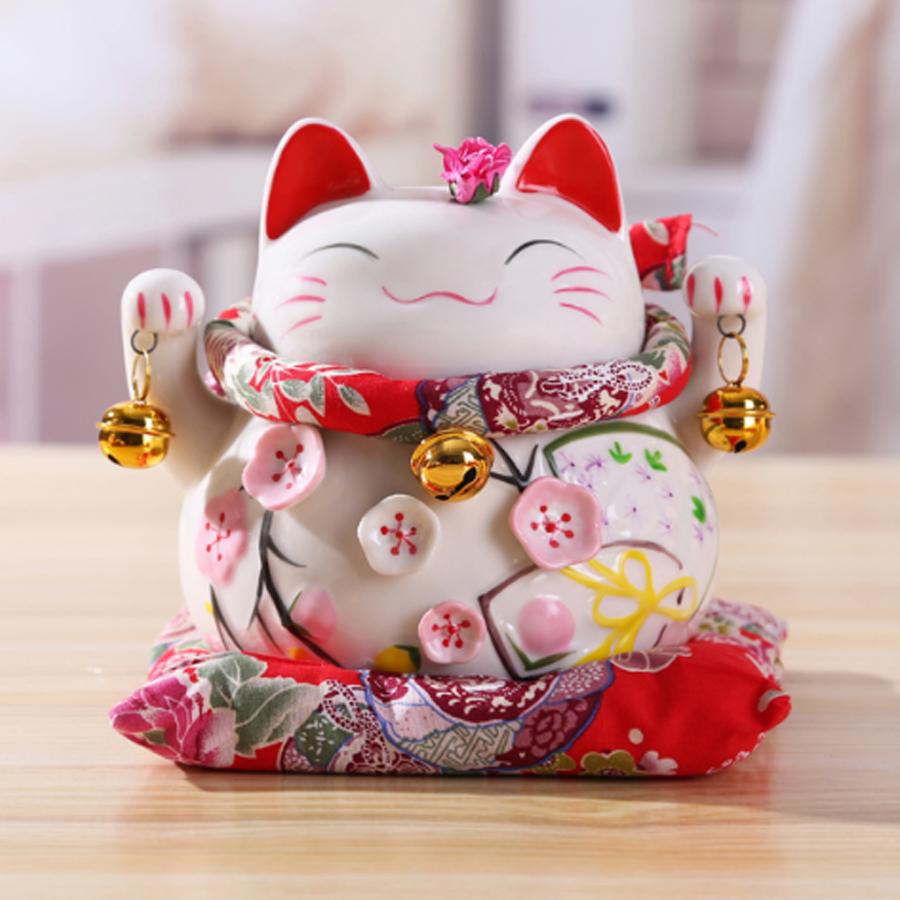 Mèo Thần Tài Kim Đào 15cm