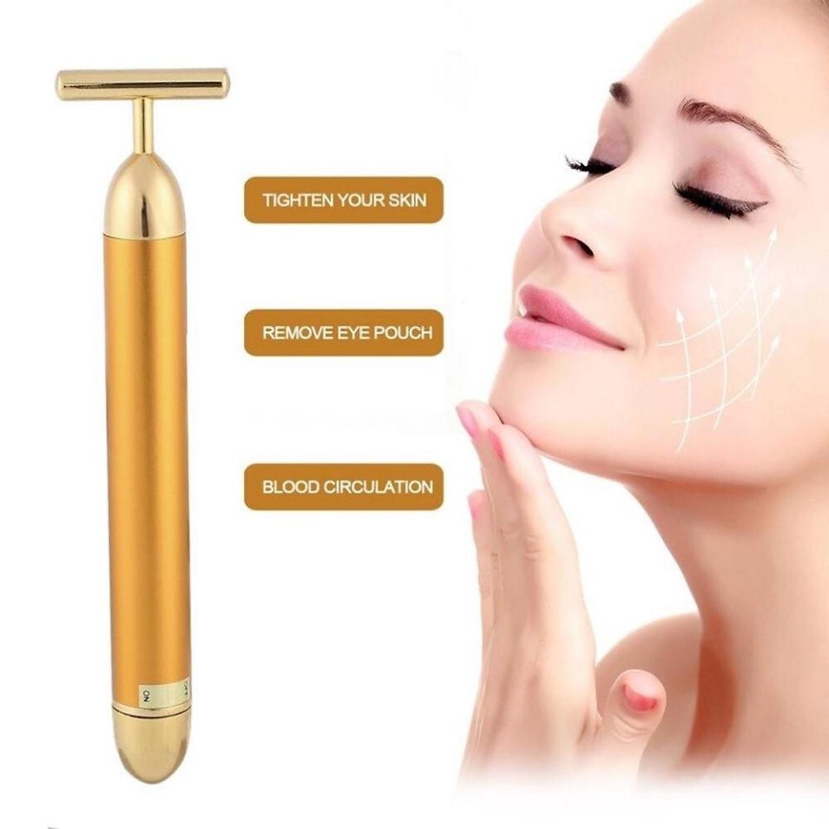 Cây lăn massage mặt nâng cơ chống lão hóa [ Tặng mặt nạ mắt Collagen ]